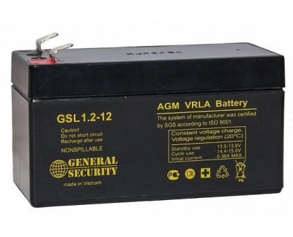 Аккумулятор 12В 1,2 А/ч GSL General Security