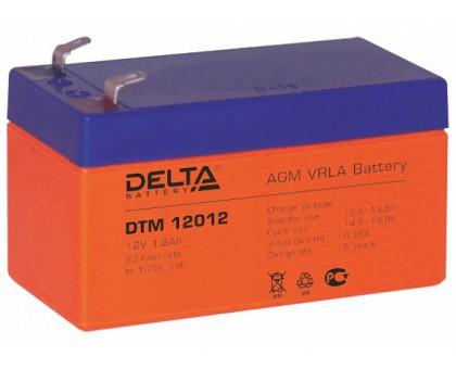 Аккумулятор 12В 1,2 А/ч Delta DTM 12012