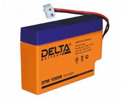 Аккумулятор 12В 0,8 А/ч Delta DT 12008