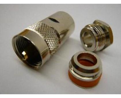 разъем UHF male пайка RG 5d