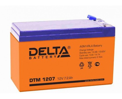 Аккумулятор 12В 7,2 А/ч Delta DTM 1207