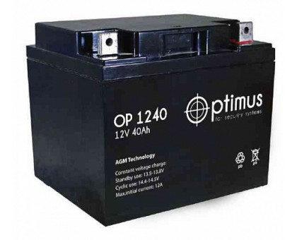 Аккумулятор 12В 40 А/ч Optimus 12-40