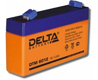 Аккумулятор 6В 1,2 А/ч Delta DTM 6012
