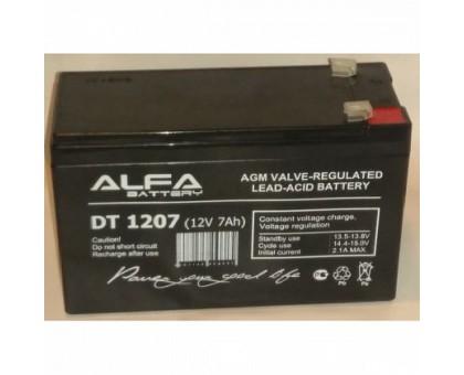 Аккумулятор 12В 7 А/ч ALFA DT 1207
