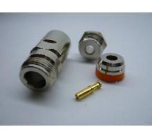 N-типа разъем female пайка для кабеля RG 58