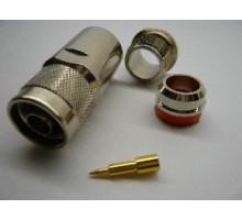 ВЧ разъем N-типа male пайка для кабеля RG 10d