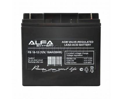 Аккумулятор 12В 18 А/ч ALFA FB