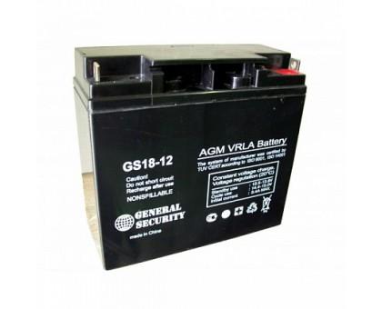 Аккумулятор 12В 18 А/ч General Security