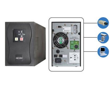 SKAT-UPS1000 исп.V 220В,  1000ВА (700 Вт)  On-Line, синусоидальная форма выходного напряжения, свето