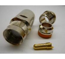 разъем UHF male  пайка RG 10д-fb