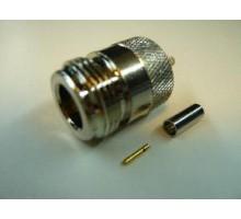 ВЧ разъем N-типа female обжимной для кабеля RG174/RG316