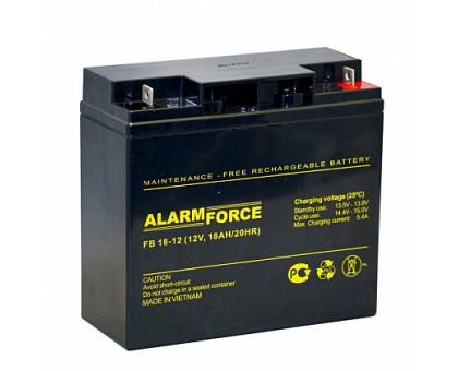 Аккумулятор 12В 18 А/ч FB Alarm Force