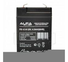Аккумулятор 6В 4,5 А/ч ALFA FB