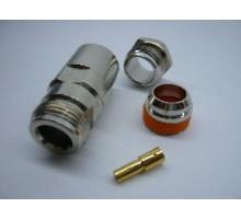 N-типа ВЧ коннектор разъем N female пайка для кабеля RG 213