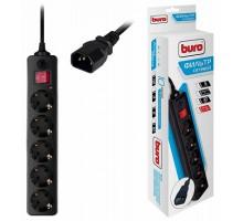 Фильтр сетевой Buro 500SH-1.8-UPS-B 1,8 м (черный)