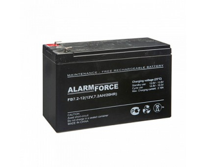 Аккумулятор 12В 7,2 А/ч FB Alarm Force