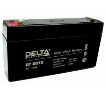 Аккумулятор 6В 1,2 А/ч Delta DT 6012