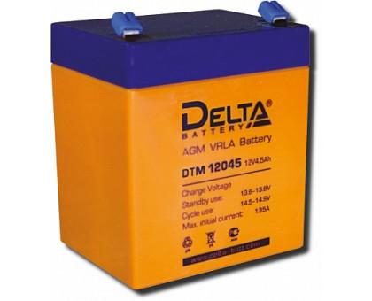 Аккумулятор 12В 4,5 А/ч Delta DTM 12045