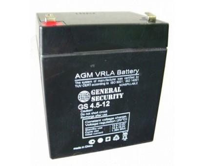 Аккумулятор 12В 4,5 А/ч GS General Security