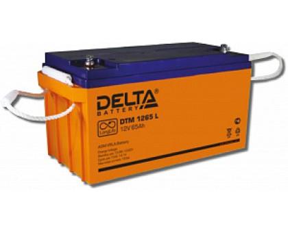 Аккумулятор 12В 65 А/ч Delta DTM 1265 L