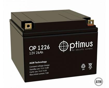 Аккумулятор 12В 26 А/ч Optimus 12-26