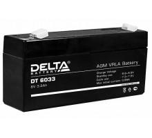 Аккумулятор 6В 3,3 А/ч Delta DT 6033