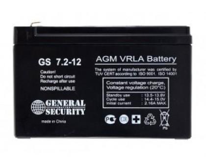 Аккумулятор 12В 7,2А/ч GS 7.2-12 KL General Security