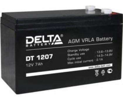 Аккумулятор 12В 7 А/ч Delta DT 1207