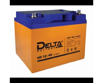 Аккумулятор 12В 40 А/ч Delta HR 12-40