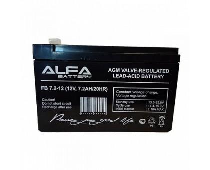 Аккумулятор 12В 7,2 А/ч ALFA FB