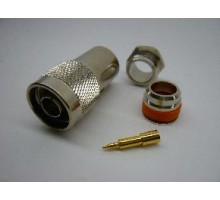 ВЧ разъем N-типа male пайка для кабеля RG 213